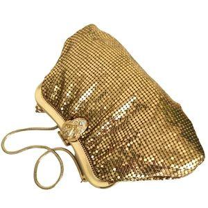 VTG Whiting and Davis Gold Mesh Metal Bag